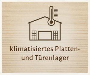 Klimatisiertes Platten und Türenlager